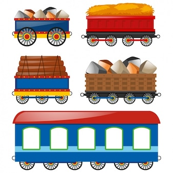 Coleção carruagens colorido