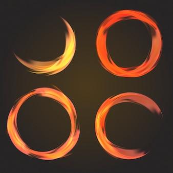 Coleção circular abstrata