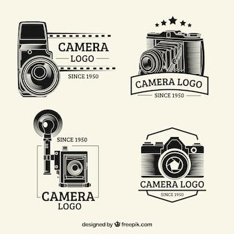 Coleção clássica do logotipo da câmera