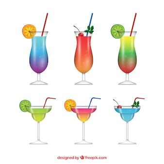 Coleção cocktail realista