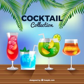 Coleção cocktail realista Vetor grátis