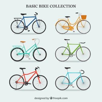 Coleção colorida de bicicletas