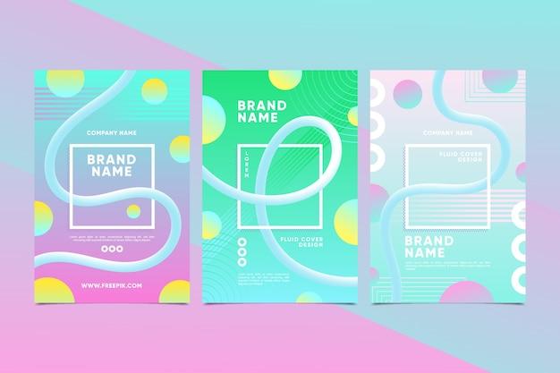 Coleção colorida de capas criativas