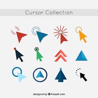 Coleção colorida de cursor