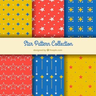 Coleção colorida de estrelas padrão
