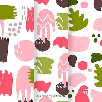 Coleção colorida de mão desenhada padrão abstrato