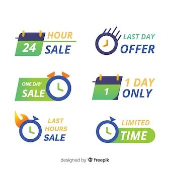 Coleção com banners de contagem regressiva de vendas