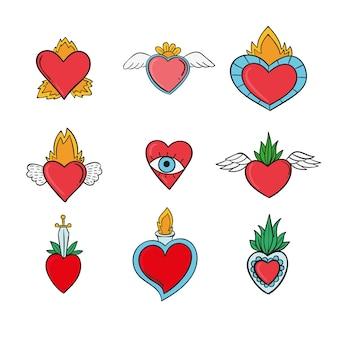 Coleção com coração sagrado