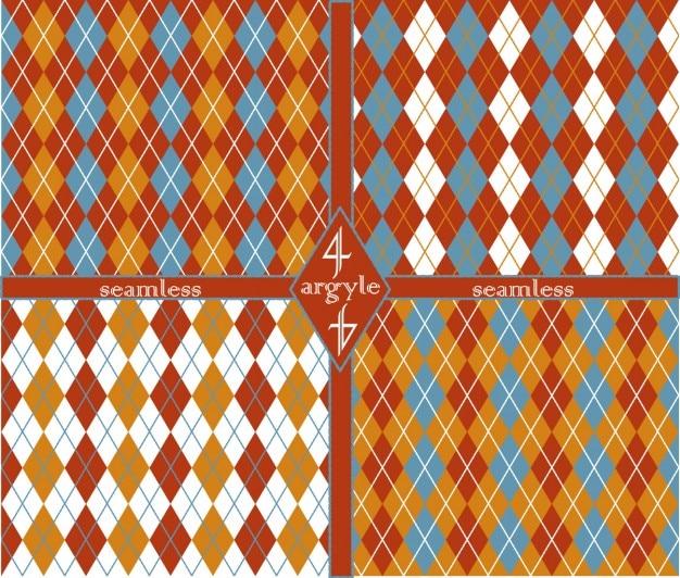 Coleção com padrões argyle