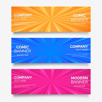 Coleção comic banner