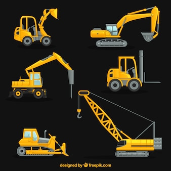 Coleção construção guindaste