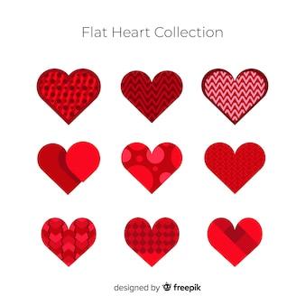 Coleção coração liso