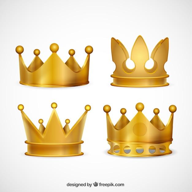 Coleção coroas de ouro