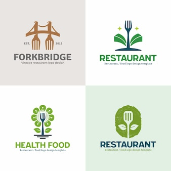 Coleção criativa criativa logotipo do restaurante.