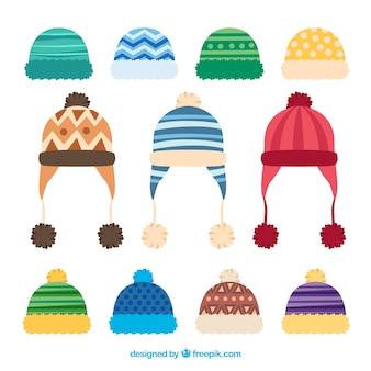 Coleção criativa de bonés de inverno
