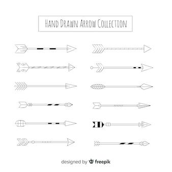 Coleção criativa de flechas
