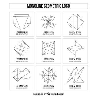 Coleção criativa de logo monoline
