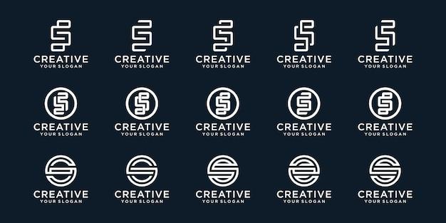 Coleção criativa do logotipo do monograma s.