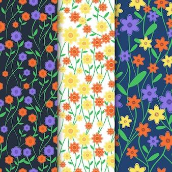Coleção criativa floral primavera padrão