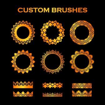 Coleção custom brushes