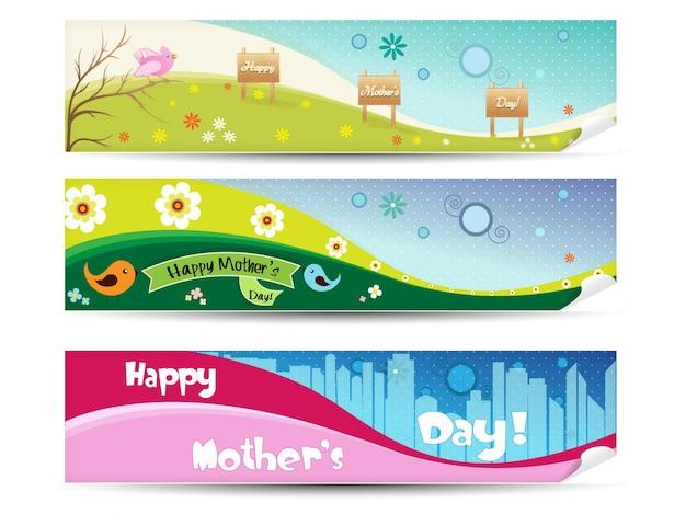 Coleção da bandeira do dia de mãe