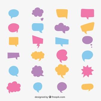 Coleção da bolha do discurso colorido