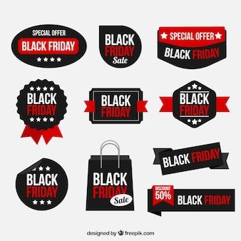 Coleção da etiqueta black friday friday
