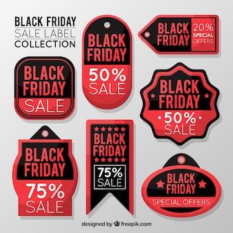 Coleção da etiqueta do preto sexta-feira