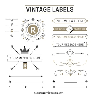 Coleção da etiqueta vintage