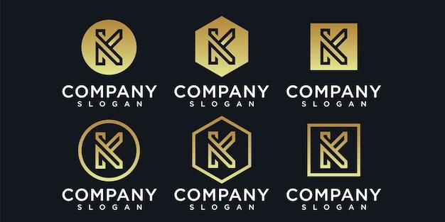 Coleção da letra k de cores modelos grátis