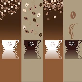 Coleção das bandeiras do café