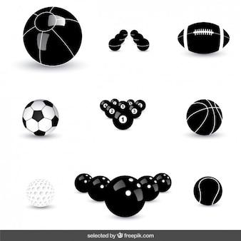 Coleção das esferas ícones