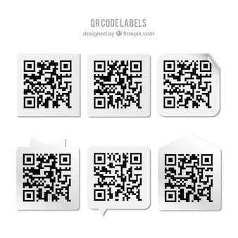 Coleção das etiquetas de código qr
