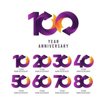 Coleção de 100 anos de aniversário