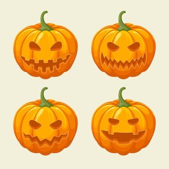 Coleção de abóboras do festival de halloween