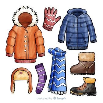 Coleção de acessórios de inverno