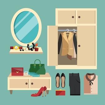 Coleção de acessórios femininos