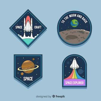 Coleção de adesivos astronômicos coloridos