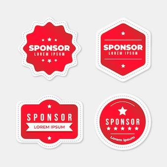 Coleção de adesivos criativos de patrocinadores