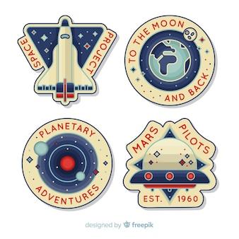 Coleção de adesivos de espaço
