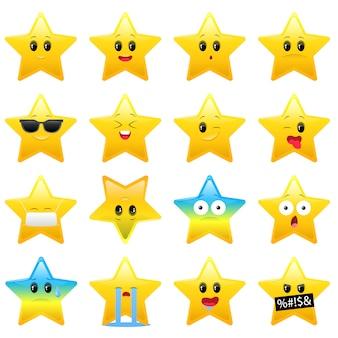 Coleção de adesivos de fanny stars em branco