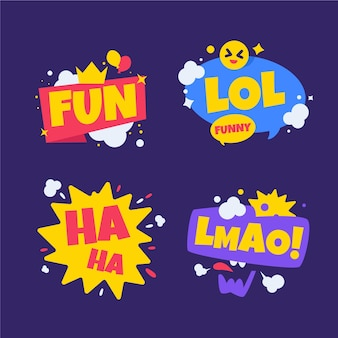 Coleção de adesivos de lol engraçado