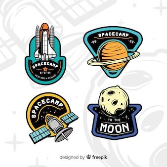 Coleção de adesivos de tema de espaço