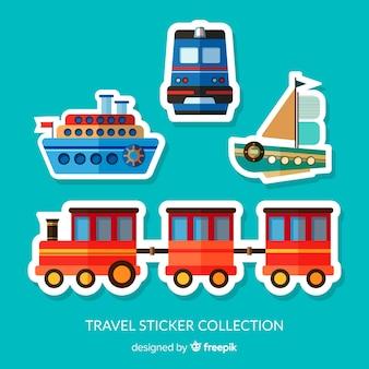 Coleção de adesivos de transporte