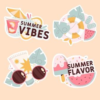 Coleção de adesivos de vibrações de verão