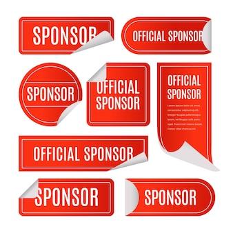 Coleção de adesivos do patrocinador