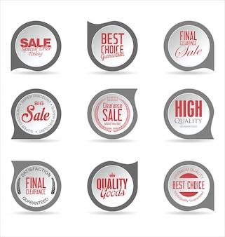 Coleção de adesivos e etiquetas de emblemas modernos