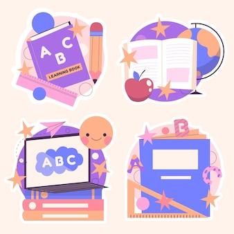 Coleção de adesivos educacionais