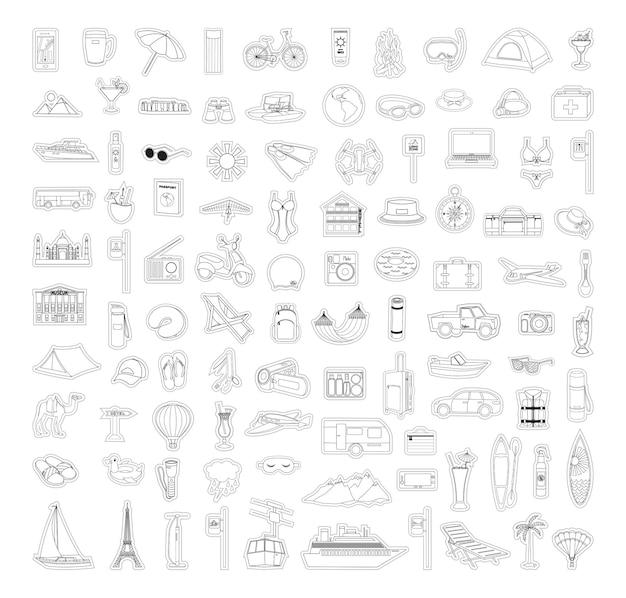 Coleção de adesivos lineares