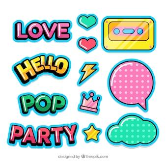 Coleção de adesivos pop